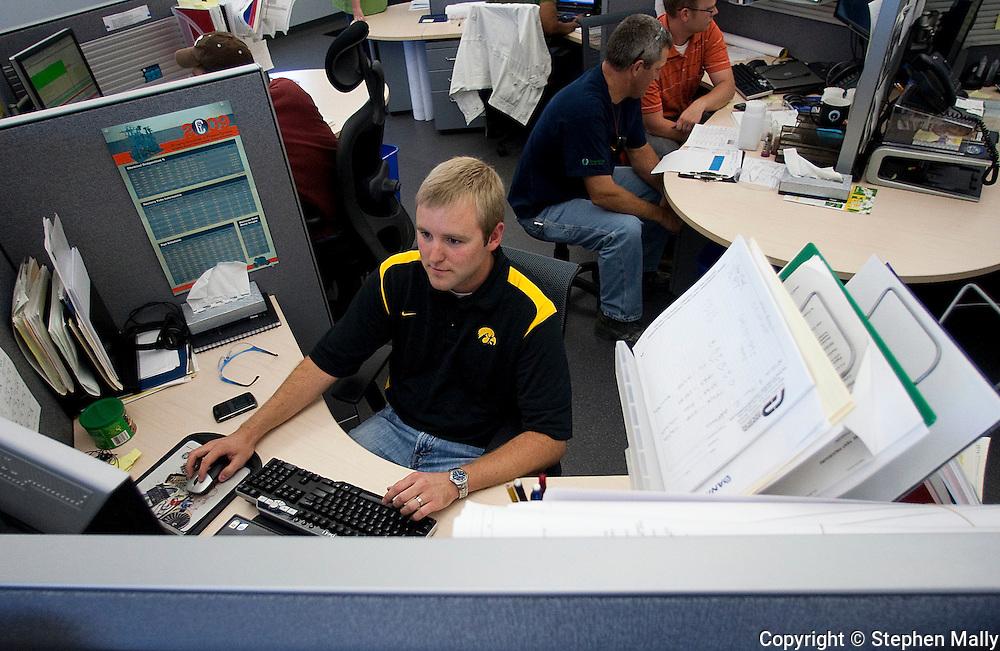 UI graduate and former intern Tyler Kleene at Genencor in Cedar Rapids on Friday July 24, 2009.  (Stephen Mally/Freelance)