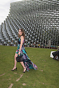 LADY VIOLET MANNERS, 2016 SERPENTINE SUMMER FUNDRAISER PARTY CO-HOSTED BY TOMMY HILFIGER. Serpentine Pavilion, Designed by Bjarke Ingels (BIG), Kensington Gardens. London. 6 July 2016