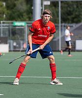AMSTELVEEN - Miel van den Heuvel (Tilburg)   tijdens de hockey hoofdklasse competitiewedstrijd  heren, Amsterdam-HC Tilburg (3-0).  COPYRIGHT KOEN SUYK