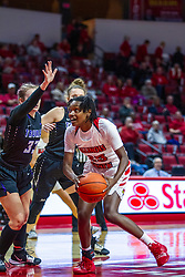 NORMAL, IL - November 05:  Juliunn Redmond defended by Katey Klucking during a college women's basketball game between the ISU Redbirds and the Truman State Bulldogs on November 05 2019 at Redbird Arena in Normal, IL. (Photo by Alan Look)