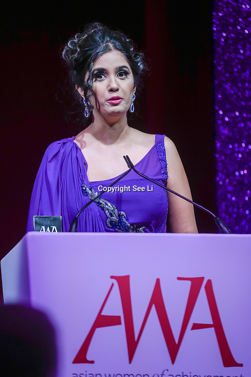 London, UK. 10th May 2017. The Media award to Shay Grewal at The Asian Women of Achievement Awards 2017 at the London Hilton on Park Lane Hotel. Photo by See li Credit: See Li
