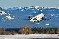 Air Canada Jazz Star Alliance CRJ-200 lifts off in Whitehorse, Yukon