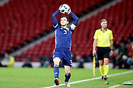 Scotland defender Andrew Robertson (3) (Liverpool) during the Friendly international match between Scotland and Portugal at Hampden Park, Glasgow, United Kingdom on 14 October 2018.
