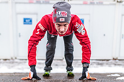 01.01.2018, Olympiaschanze, Garmisch Partenkirchen, GER, FIS Weltcup Ski Sprung, Vierschanzentournee, Garmisch Partenkirchen, Probesprung, im Bild Daniel Huber (AUT) // Daniel Huber of Austria before the Trial Jump for the Four Hills Tournament of FIS Ski Jumping World Cup at the Olympiaschanze in Garmisch Partenkirchen, Germany on 2018/01/01. EXPA Pictures © 2018, PhotoCredit: EXPA/ JFK