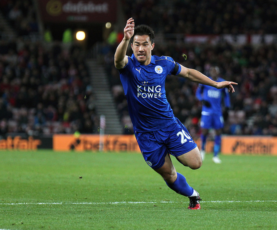 Leicester City's Shinji Okazaki <br /> <br /> Photographer Rich Linley/CameraSport<br /> <br /> The Premier League - Sunderland v Leicester City - Saturday 3rd December 2016 - Sunderland Stadium of Light - Sunderland<br /> <br /> World Copyright © 2016 CameraSport. All rights reserved. 43 Linden Ave. Countesthorpe. Leicester. England. LE8 5PG - Tel: +44 (0) 116 277 4147 - admin@camerasport.com - www.camerasport.com
