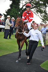 EDIE CAMPBELL riding Harrodian Hotshot winners of the Magnolia Cup at the 3rd day of the 2011 Glorious Goodwood Racing Festival - Ladies Day at Goodwood Racecourse, West Sussex on 28th July 2011.