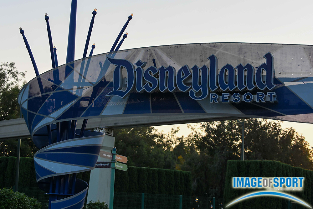 General overall view of Disneyland signage Tuesday, Sept. 22, 2020, in Anaheim, Calif. (Dylan Stewart/Image of Sport)