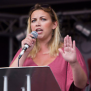 Charlotte Church speaking at the People's Assembly Against Austerity 'End Austerity Now' demonstration attended by over 250,000 people on Saturday 20th of June 2015 sending a clear message to the Tory government; demanding an alternative to austerity and to policies that only benefit those at the top. London, UK.