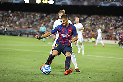 September 18, 2018 - Barcelona, Catalonia, Spain - Luis Suarez of FC Barcelona in action during the UEFA Champions League, Group B football match between FC Barcelona and PSV Eindhoven on September 18, 2018 at Camp Nou stadium in Barcelona, Spain (Credit Image: © Manuel Blondeau via ZUMA Wire)
