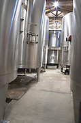 Fermentation tanks. Chateau Liot, Barsac, Sauternes, Bordeaux, France