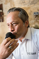 Serge Ghoukassian, proprietor of restaurant Chez Serge in Carpentras, France, which offers daily menus in which every dish contains truffles. http://www.chez-serge.fr