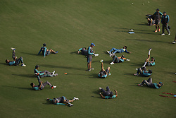 September 7, 2017 - Lahore, Punjab, Pakistan - Pakistani cricketers take part in a practice session at the Gaddafi Cricket Stadium for the forthcoming World XI tour. The World XI will be led by South African skipper Faf du Plessis and will have 13 other players from seven test playing countries. The three-match series will start from September 12 with the remaining two matches scheduled to take place on September 13 and 15,2017. (Credit Image: © Rana Sajid Hussain/Pacific Press via ZUMA Wire)