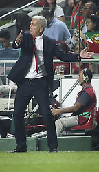 October 10, 2017 - Lisbon, Portugal - Switzerland's coach Vladimir Petkovic  gestures from the sideline during the FIFA 2018 World Cup Qualifier match between Portugal and Switzerland at the Luz Stadium on October 10, 2017 in Lisbon, Portugal. (Credit Image: © Carlos Costa/NurPhoto via ZUMA Press)