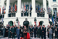 Reagan with Arab League Ministers<br />Photo by Dennis Brack