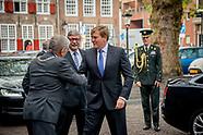 Koning Willem-Alexander tijdens de viering van het vijftigjarig jubileum van Rutgers bijgewoond. De