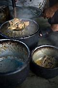 A chef making biryiani at Babu Shahi Bawarchi, New Delhi, India