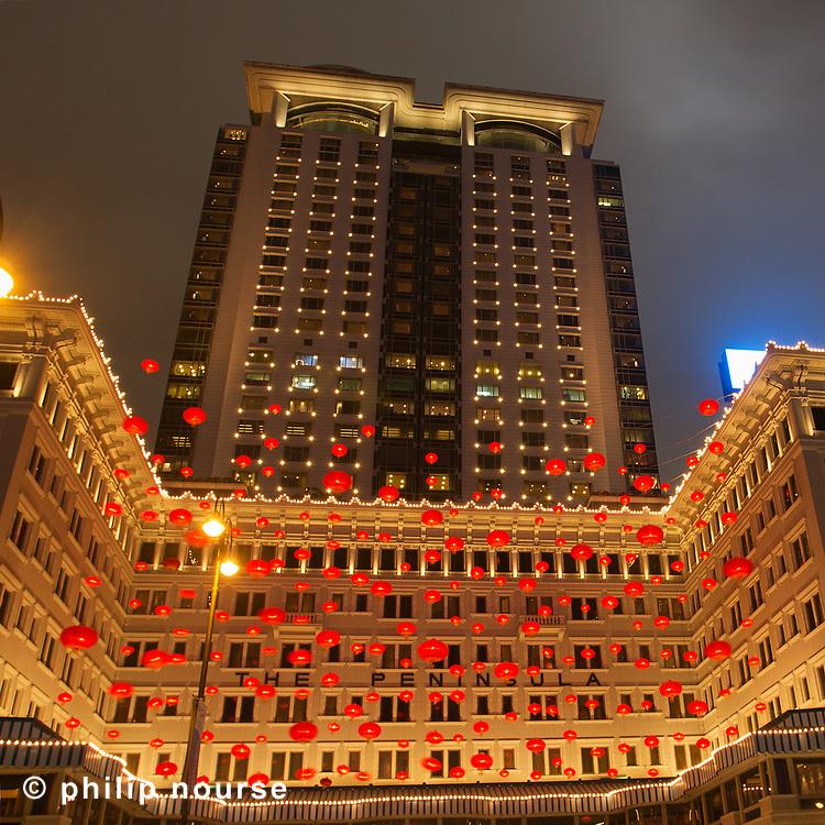 Chinese New Year Lanterns, The Peninsula, Tsimshatsui