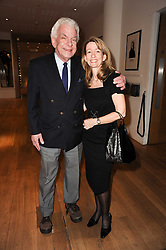 BARRY CRYER and writer ERICA JAMES at the annual Orion Publishing Group's Author party held in the Paul Hamlyn Hall, The Royal Opera House, Covent Garden, London on 22nd February 2010.