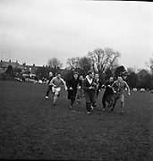 Noel Murphy, right, of Cork Constitution, calls for the ball from WJ McBride of Ballymena, during practice at Anglesea Road, Dublin, Friday 20th January, 1967,..Irish Rugby Football Union, Ireland v Australia, Ireland team pracrtice, Dublin, Ireland, Friday 20th January, 1967,.20.1.1967, 1.20.1967,  Referee- M Joseph, Welsh Rugby Union, ..Score- Ireland 15 - 8 Australia, ..Irish Team, ..T J Kiernan,  Wearing number 15 Irish jersey, Full Back, Cork Constitution Rugby Football Club, Cork, Ireland,..A T A Duggan, Wearing number 14 Irish jersey, Right Wing, Landsdowne Rugby Football Club, Dublin, Ireland,..F P K Bresnihan, Wearing number 13 Irish jersey, Right Centre, University College Dublin Rugby Football Club, Dublin, Ireland, ..H H Rea, Wearing number 12 Irish jersey, Left Centre, Edinburgh University Rugby Football Club, Edinburgh, Scotland, ..P J McGrath,  Wearing number 11 Irish jersey, Left Wing, University college Cork Rugby Football Club, Cork, Ireland,  ..C M H Gibson, Wearing number 10 Irish jersey, Stand Off, N.I.F.C, Rugby Football Club, Belfast, Northern Ireland, ..B F Sherry, Wearing number 9 Irish jersey, Scrum Half, Terenure Rugby Football Club, Dublin, Ireland, ..K G Goodall, Wearing number 8 Irish jersey, Forward, Newcastle University Rugby Football Club, Newcastle, England, ..M G Doyle, Wearing number 7 Irish jersey, Forward, Edinburgh Wanderers Rugby Football Club, Edinburgh, Scotland, ..N Murphy, Wearing number 6 Irish jersey, Forward, Cork Constitution Rugby Football Club, Cork, Ireland,..M Molloy, Wearing number 5 Irish jersey, Forward, University College Galway Rugby Football Club, Galway, Ireland,  ..W J McBride, Wearing number 4 Irish jersey, Forward, Ballymena Rugby Football Club, Antrim, Northern Ireland,..P O'Callaghan, Wearing number 3 Irish jersey, Forward, Dolphin Rugby Football Club, Cork, Ireland, ..K W Kennedy, Wearing number 2 Irish jersey, Forward, C I Y M S Rugby Football Club, Belfast, Northern Ireland, ..T A Moroney, Wearing nu