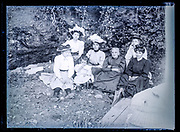 family casually posing in nature setting Frane ca 1920s