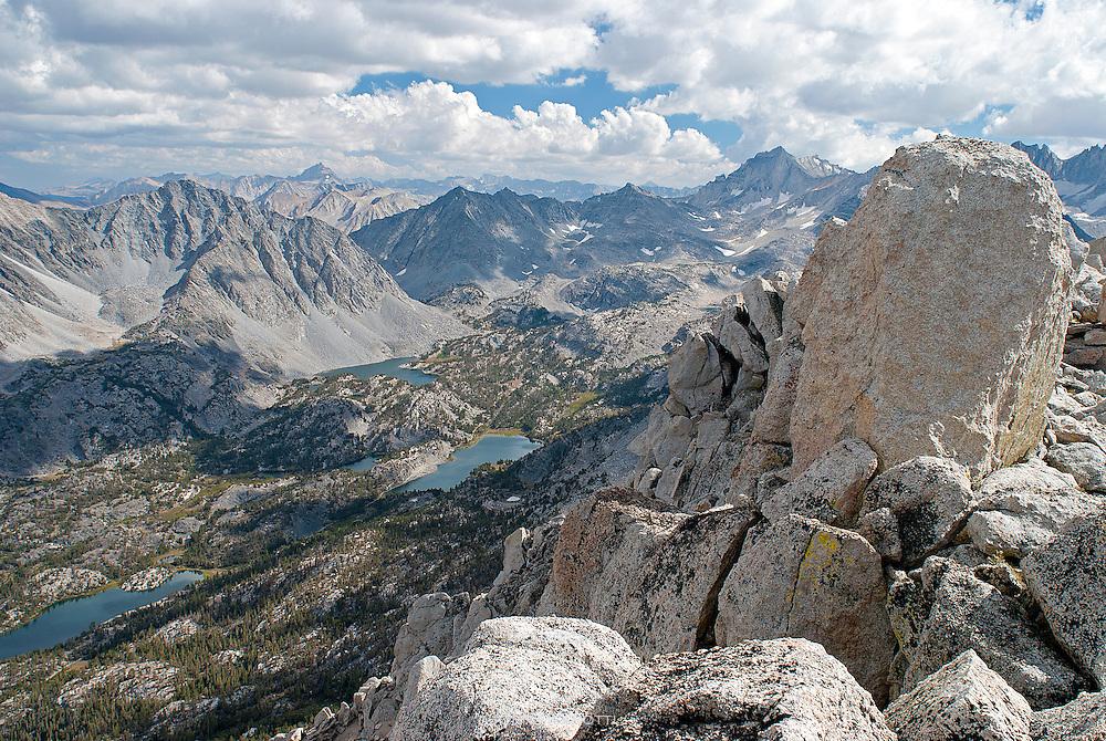 Starr Peak is northeast of Mono Pass, near Rock Creek in the Sierras