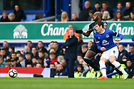 Allan-Romeo Nyom of West Bromwich Albion and Ross Barkley of Everton chase the ball. Premier league match, Everton v West Bromwich Albion at Goodison Park in Liverpool, Merseyside on Saturday 11th March 2017.<br /> pic by Chris Stading, Andrew Orchard sports photography.