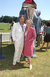 The EARL & COUNTESS OF MARCH at the Veuve Clicquot sponsored Gold Cup Final or the British Open Polo Championship held at Cowdray Park, West Sussex on 17th July 2005.<br /><br />NON EXCLUSIVE - WORLD RIGHTS