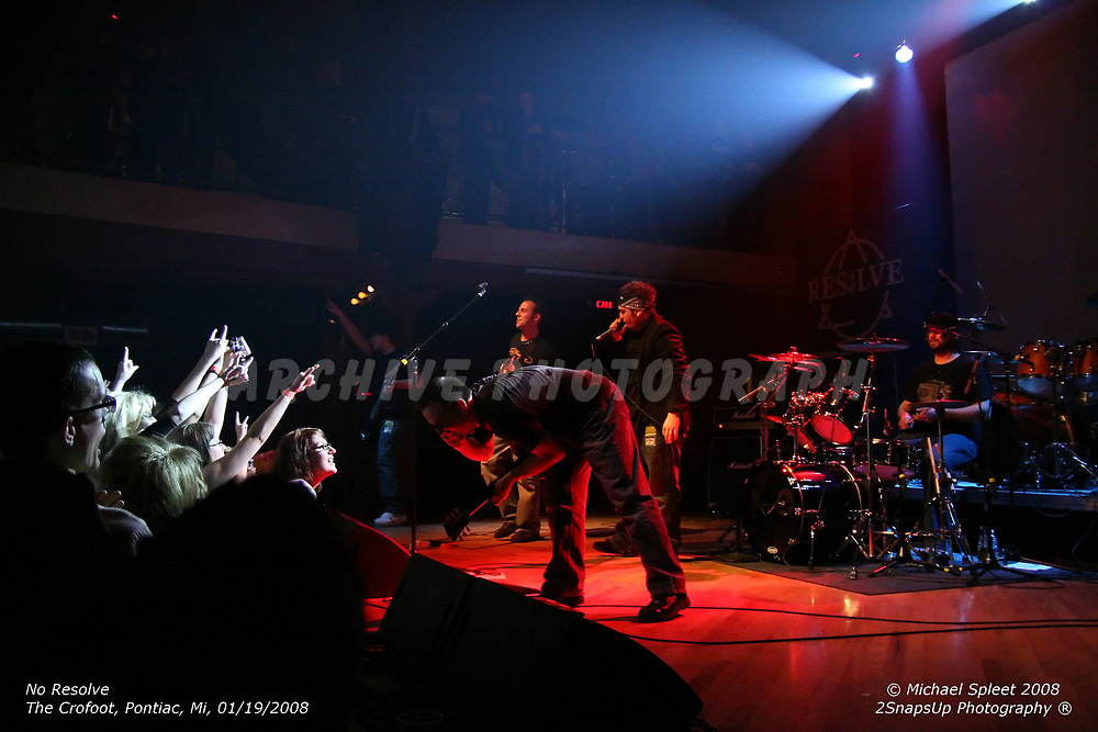PONTIAC, MI, SATURDAY, JAN. 19, 2008: No Resolve,  at The Crofoot, Pontiac, MI, 01/19/2008. (Image Credit: Michael Spleet / 2SnapsUp Photography)