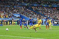 Romania Forward Bogdan Stancu scores a goal from the penalty spot 1-1 during the Group A Euro 2016 match between France and Romania at the Stade de France, Saint-Denis, Paris, France on 10 June 2016. Photo by Phil Duncan.