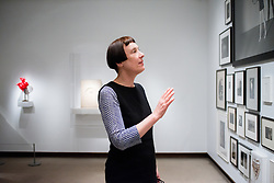 Cornelia Parker talks about the Falling Soldier photograph in the exhibition The Metropolitan Museum of Art for Artist Project 2015 episode. © 2015 MMA, photographed by Jackie Neale