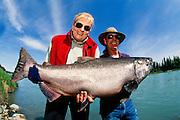 Alaska. Kenai River fishing , King Salmon catch.