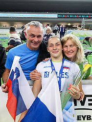 Tina Grudina of Slovenia with family after the volleyball match between National team of Turkey and Slovenia in Gold Medal game of Womens U23 World Championship 2017, on September 17, 2017 in SRC Stozice, Ljubljana, Slovenia. Photo by Morgan Kristan / Sportida