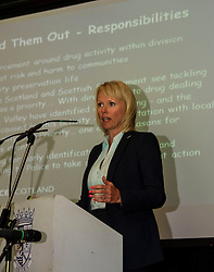 Pictured: <br /> <br /> Falkirk Town Hall hosted an event today aimed at raising awareness of cannabis cultivations across Forth Valley. The Weed Them Out campaign was launched by senior police officers including Detective Chief Inspector Laura Mcluckie. <br /> <br /> Ger Harley | EEm 31 May  2016