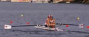 Atlanta, USA. GBR W2-,  Bow, Kate MACKENZIE, Philippa CROSS.  1996 Olympic Rowing Regatta Lake Lanier, Georgia [Mandatory Credit Peter Spurrier/ Intersport Images]