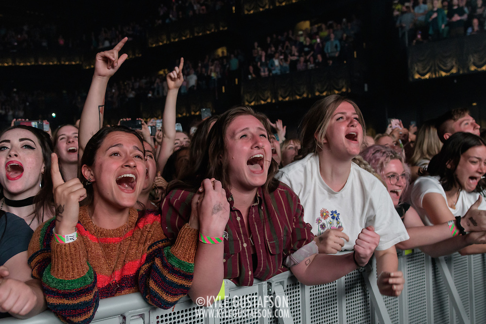 WASHINGTON, DC - May 21st, 2019 - Fans in the front row react as The 1975 perform at The Anthem in Washington, D.C. (Photo by Kyle Gustafson / For The Washington Post)