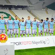 Fenerbahce's players during their Turkish Super League soccer match Bursaspor between Fenerbahce at the Ataturk Stadium in Bursa Turkey on Saturday, 20 February 2016. Photo by TURKPIX