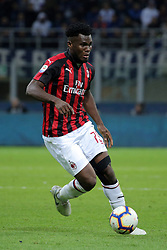 October 21, 2018 - Milan, Milan, Italy - Frank Kessie #79 of AC Milan in action during the serie A match between FC Internazionale and AC Milan at Stadio Giuseppe Meazza on October 21, 2018 in Milan, Italy. (Credit Image: © Giuseppe Cottini/NurPhoto via ZUMA Press)