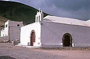 Village church Ermita de San Marcial del Rubicon, Femes, Lanzarote, Canary Islands, Spain in 1979