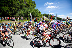Cyclists on mountain target during 1st Stage (164 km) at 19th Tour de Slovenie 2012, on June 14, 2012, in Novo Mesto, Slovenia. (Photo by Matic Klansek Velej / Sportida)