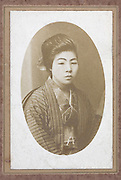 portrait of Japanese girl in Kimono 1920s