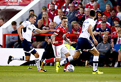 Barrie McKay of Nottingham Forest goes past Jed Wallace of Millwall - Mandatory by-line: Robbie Stephenson/JMP - 04/08/2017 - FOOTBALL - The City Ground - Nottingham, England - Nottingham Forest v Millwall - Sky Bet Championship