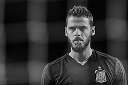 September 11, 2018 - Elche, Alicante, Spain - (EDITORS NOTE: the image has been converted to black and white) David De Gea of Spain looks on prior to the UEFA Nations League A group four match between Spain and Croatia at Manuel Martinez Valero on September 11, 2018 in Elche, Spain  (Credit Image: © David Aliaga/NurPhoto/ZUMA Press)