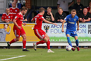 AFC Wimbledon attacker Shane McLoughlin (19) with a through ball during the EFL Sky Bet League 1 match between AFC Wimbledon and Accrington Stanley at the Cherry Red Records Stadium, Kingston, England on 17 August 2019.