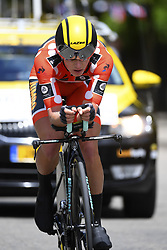 June 7, 2017 - Bourgoin Jallieu, France - BOURGOIN-JALLIEU, FRANCE - JUNE 7 : BOUWMAN Koen (NED) Rider of Team Lotto NL - Jumbo during stage 4 of the 69th edition of the Criterium du Dauphine Libere cycling race, an individual time trail of 23,5 kms between La Tour-du-Pin and Bourgoin-Jallieu on June 07, 2017 in Bourgoin-Jallieu, France, 7/06/2017 (Credit Image: © Panoramic via ZUMA Press)
