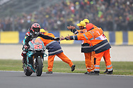 #20 Fabio Quatararo, French: Petronas Yamaha SRT is congratulated by the marshalls during racing on the Bugatti Circuit at Le Mans, Le Mans, France on 19 May 2019.