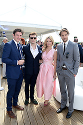 Left to right, JAMES WALLWORK, SAM CLAFLIN, ANNABELLE WALLIS and JAMES ROUSSEAU at the Audi Polo Challenge 2013 at Coworth Park Polo Club, Berkshire on 3rd August 2013.