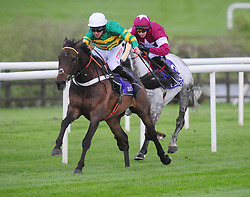 Buveur D'Air and Davy Russell (left) win the Grade 1 Betdaq Champion Hurdle during day four of the Punchestown Festival at Punchestown Racecourse, County Kildare, Ireland.