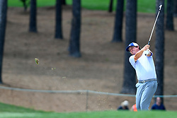 May 4, 2019 - Charlotte, NC, U.S. - CHARLOTTE, NC - MAY 04: Jason Dufner plays his shot from the 5th fairway in round three of the Wells Fargo Championship on May 04, 2019 at Quail Hollow Club in Charlotte,NC. (Photo by Dannie Walls/Icon Sportswire) (Credit Image: © Dannie Walls/Icon SMI via ZUMA Press)