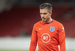 Jack Grealish (England) under UEFA Nations League kampen mellem Danmark og England den 8. september 2020 i Parken, København (Foto: Claus Birch).