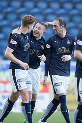 Falkirk's John Baird celebrates after scoring their second goal. <br /> Falkirk 3 v 0 St Mirren. Scottish Championship game played 21/10/2015 at The Falkirk Stadium.